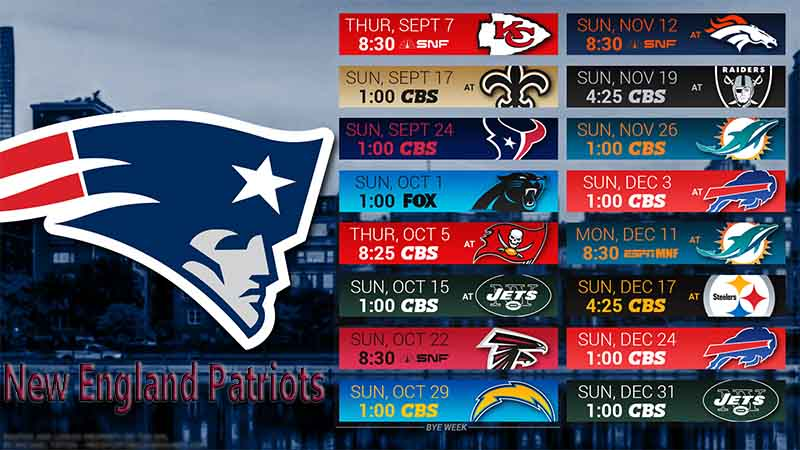 New England Patriots Schedule 2017